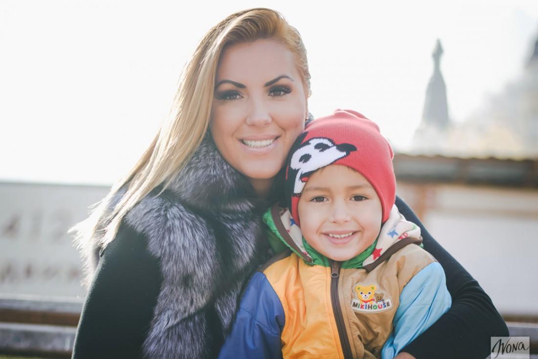 Яна с сыном