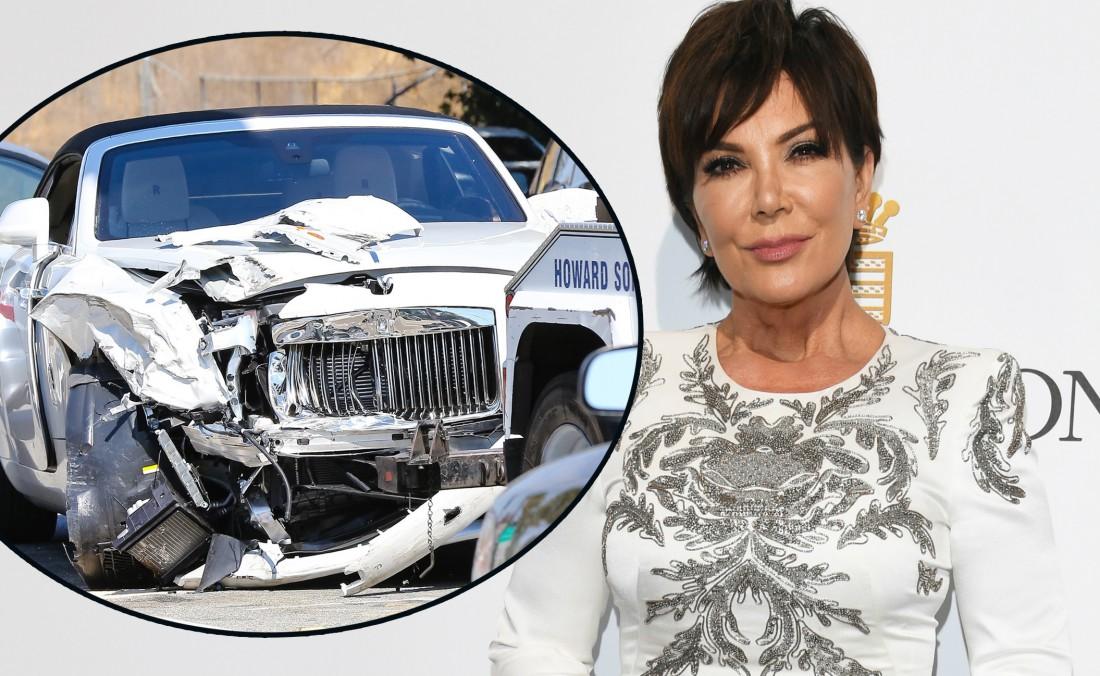 Крис Дженнер и разбитый Rolls-Royce
