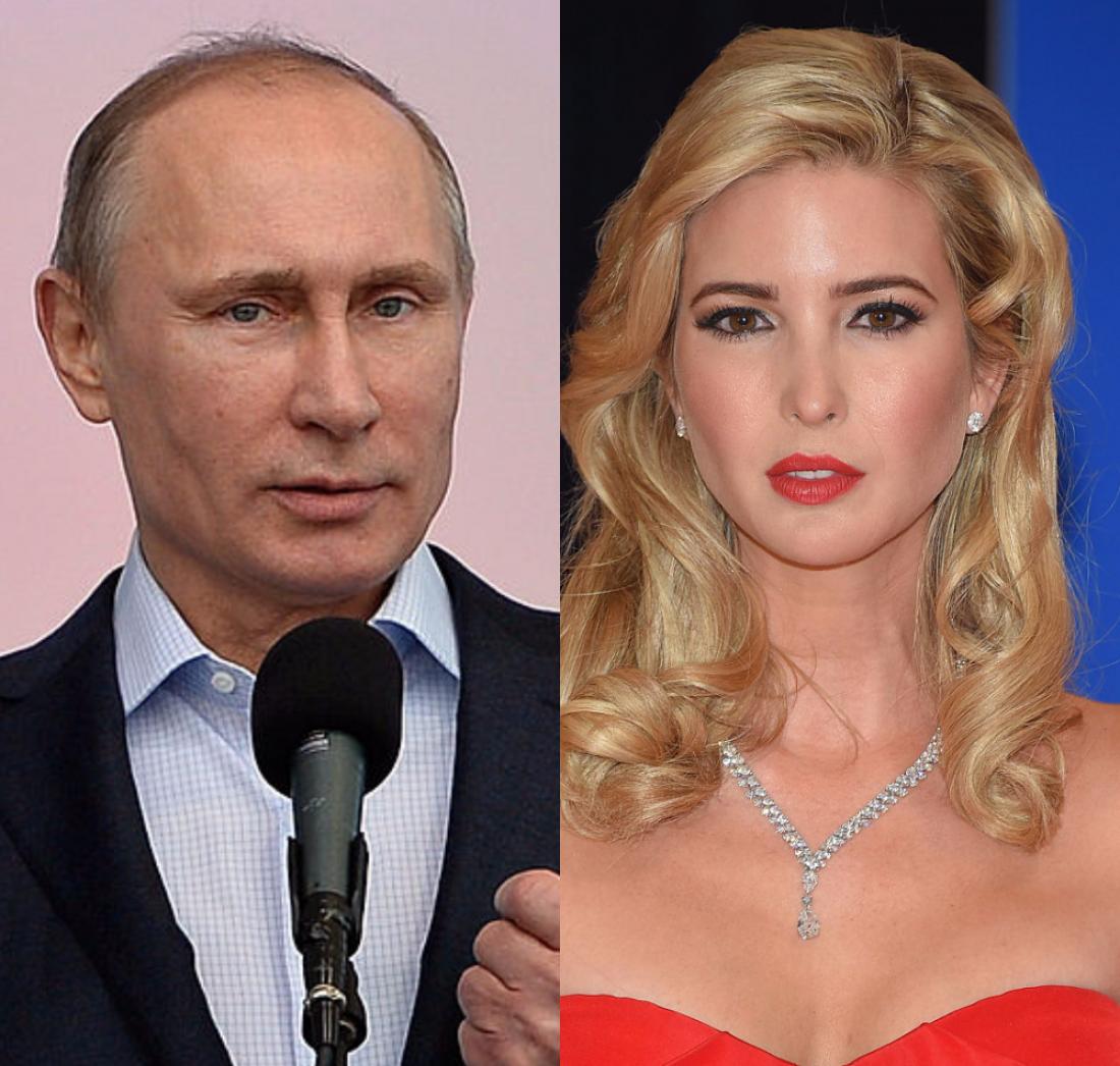 Иванка Трамп и Владимир Путин