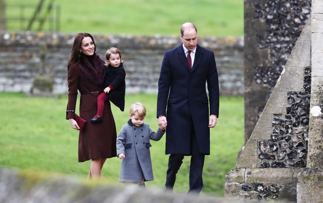 Принц Ульям и Кейт Миддлтон с детьми