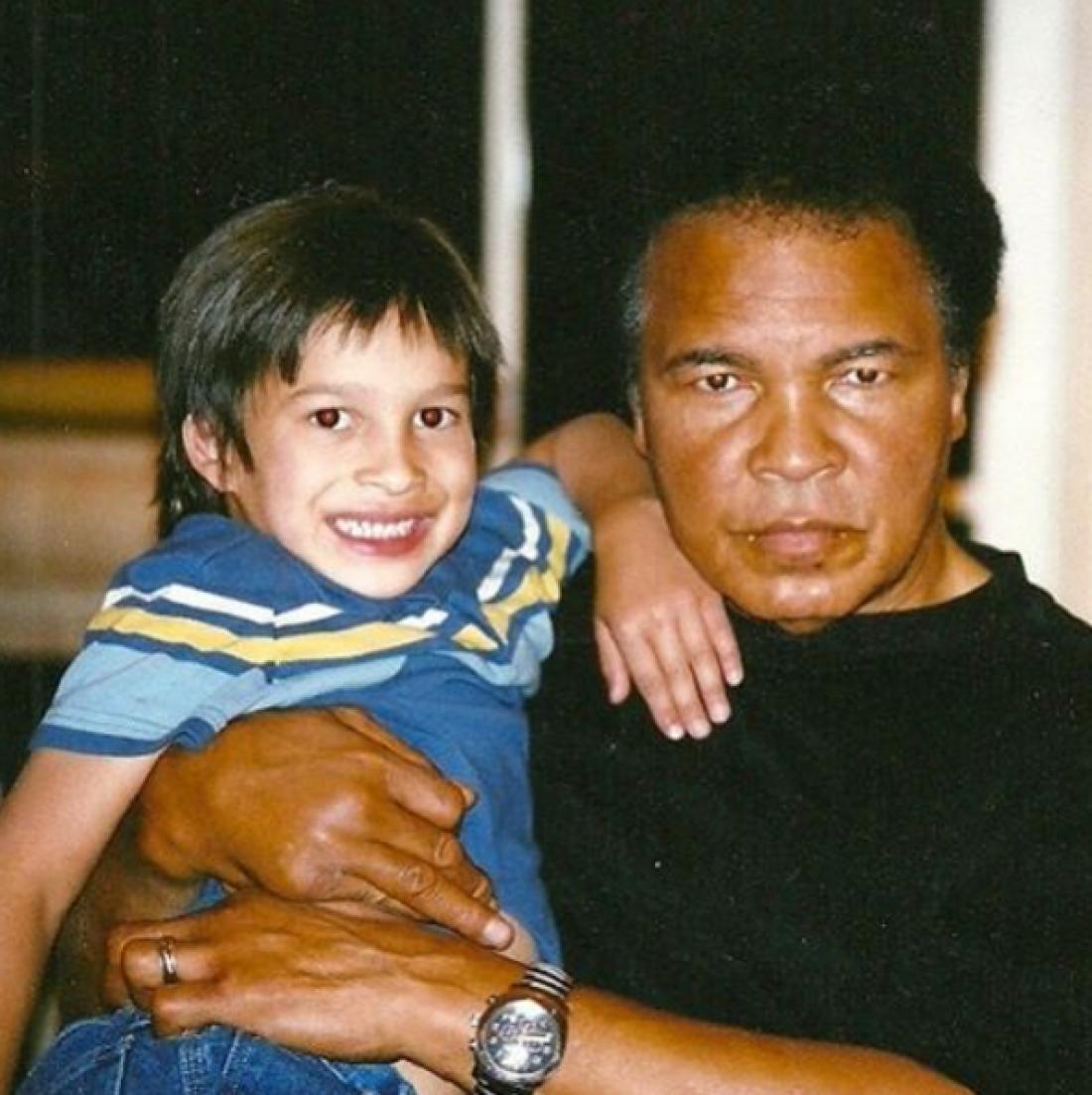 Бьяджо со своим дедушкой Мухаммедом Али