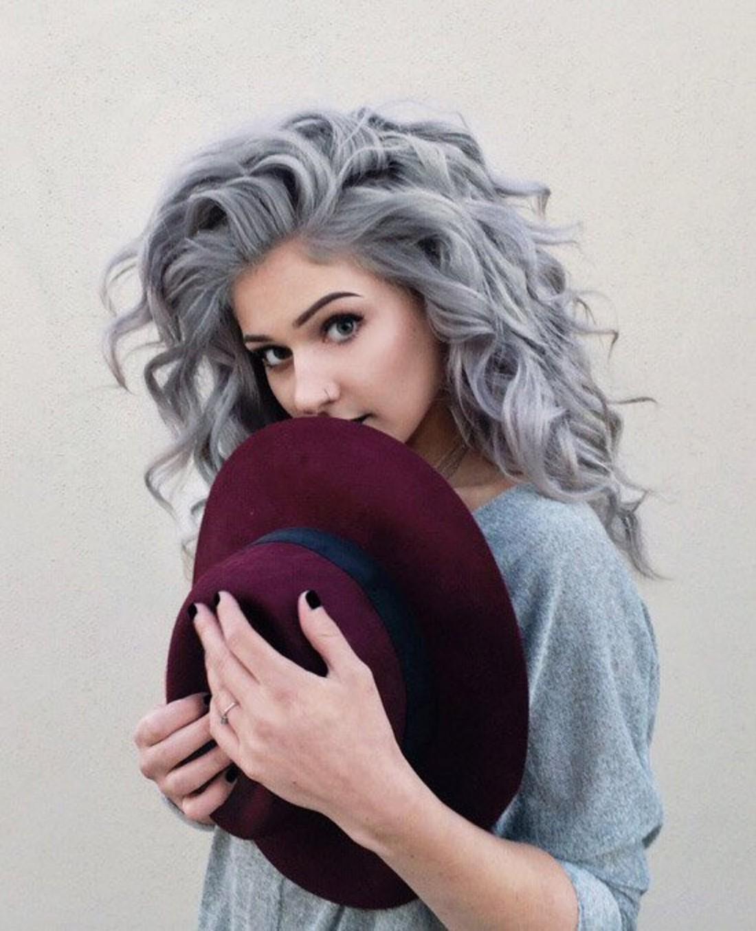 Волосы с сединой