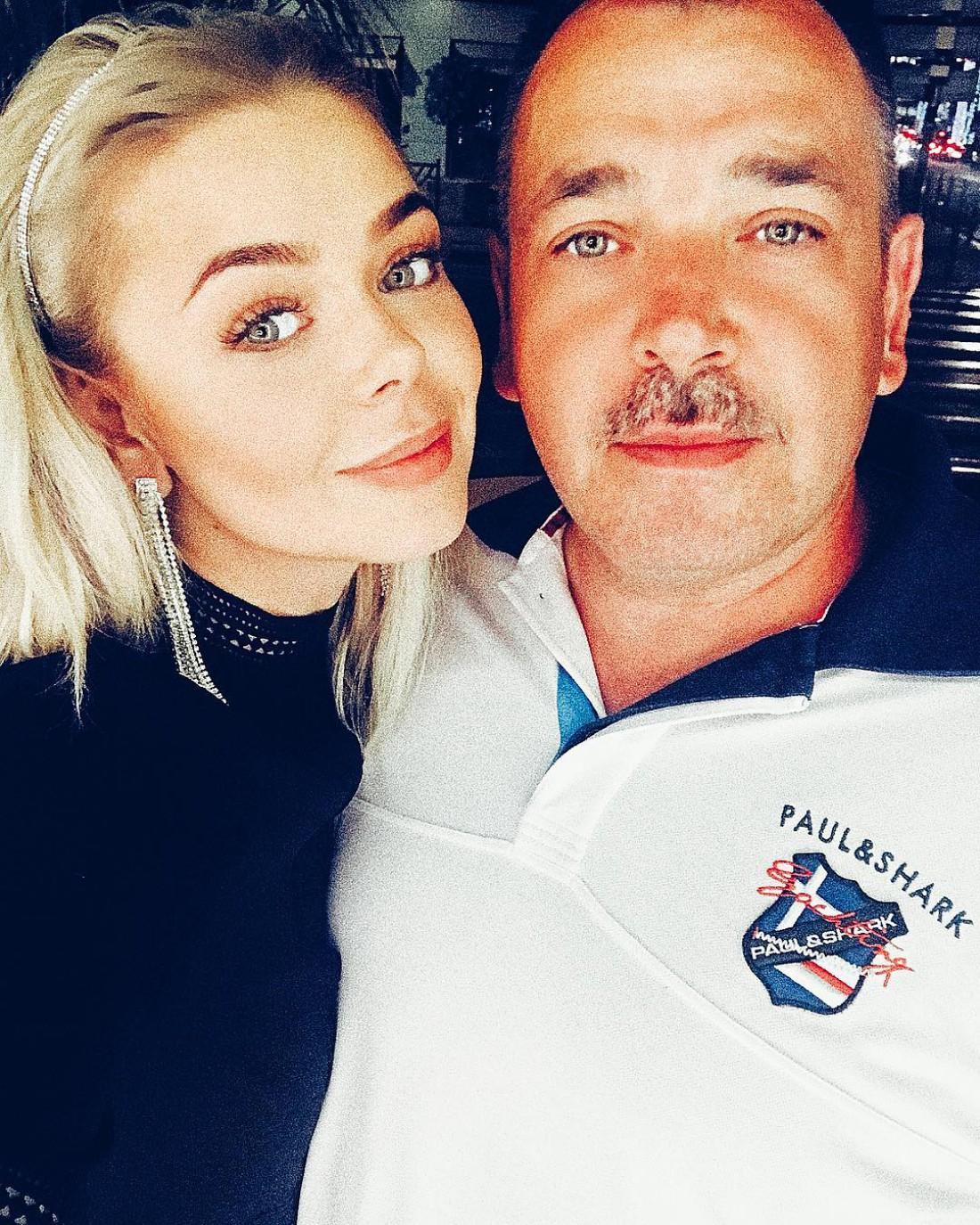 Алина с отцом