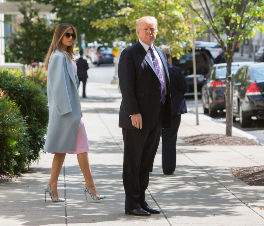 Меланья и Дональд Трамп