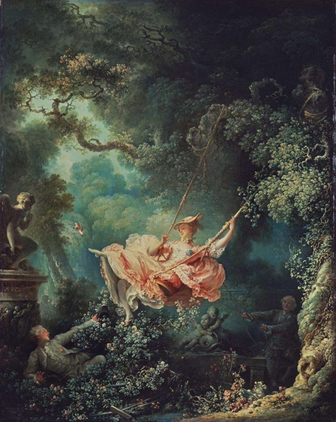 Картина Жана-Оноре Фрагонара Качели