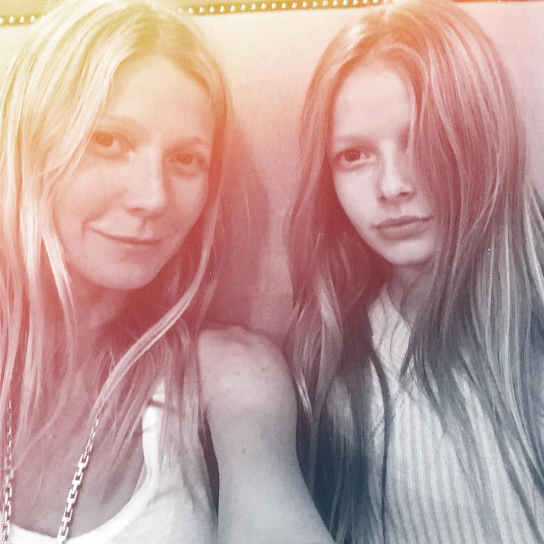 Гвинет с дочкой Эппл