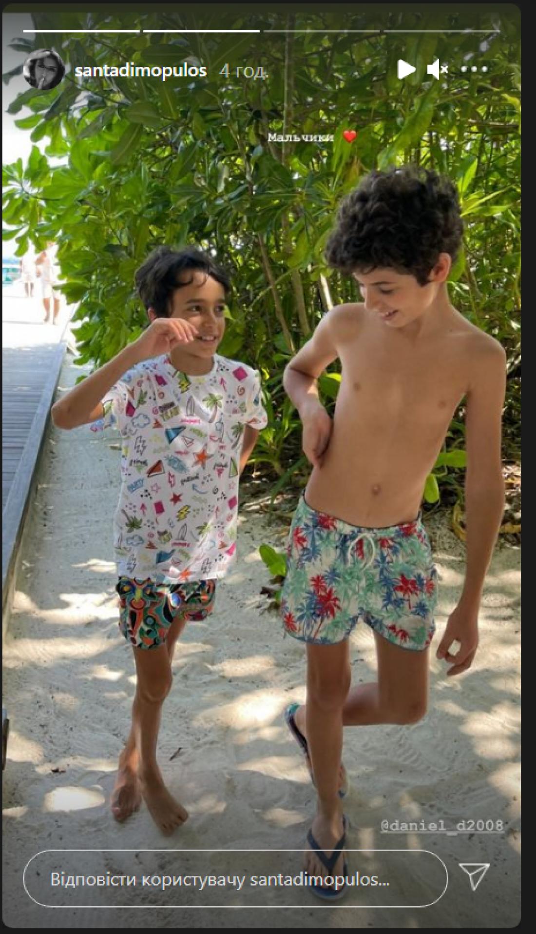 Санта Димопулос и Екатерина Кухар встретились на Мальдивах