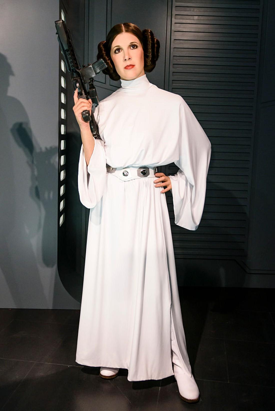 Кэрри Фишер в роли принцессы Леи в киносаге Звездные войны