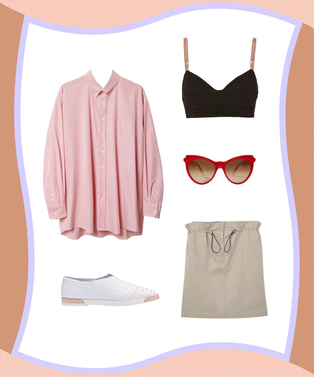 Рубашка + юбка + бралетт