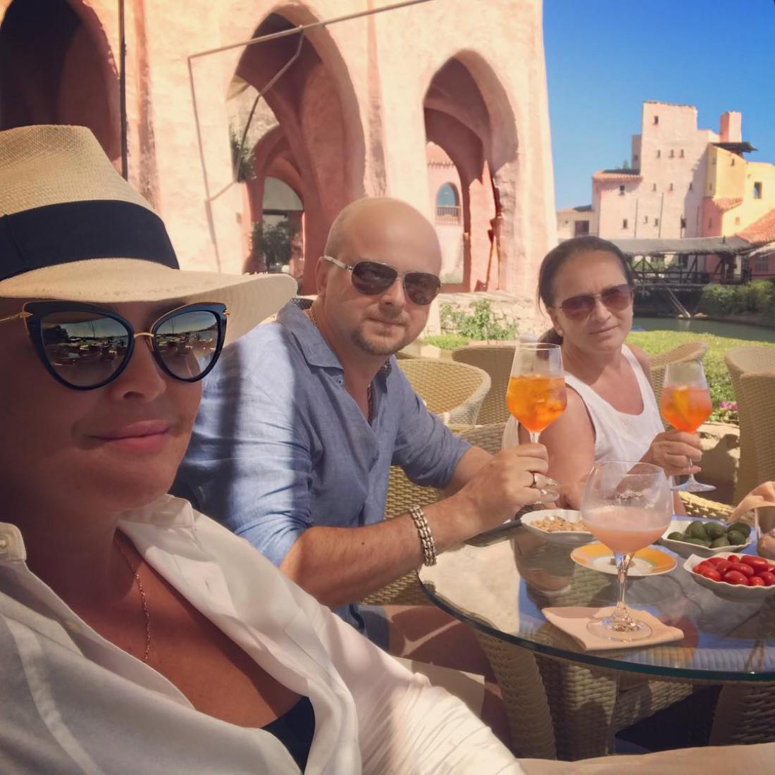 София Ротару на отдыхе в Италии