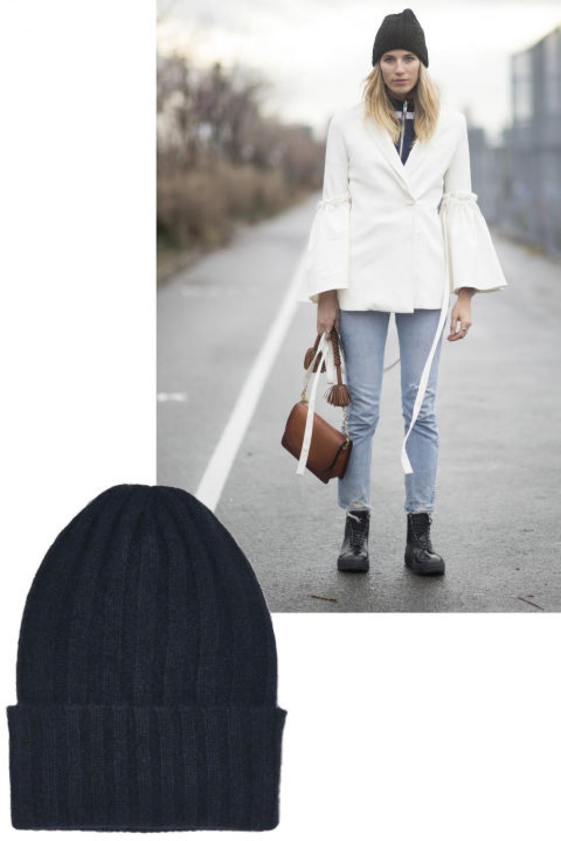 Модные головные уборы 2016: вязаная шапка