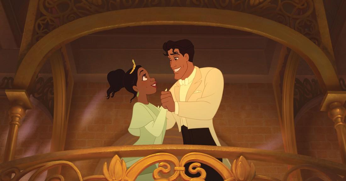 Тиана и Принц Навин из мультфильма Принцесса и лягушка