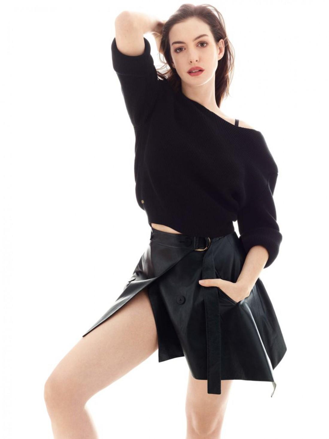 Энн Хэтэуэй на страницах американского Elle