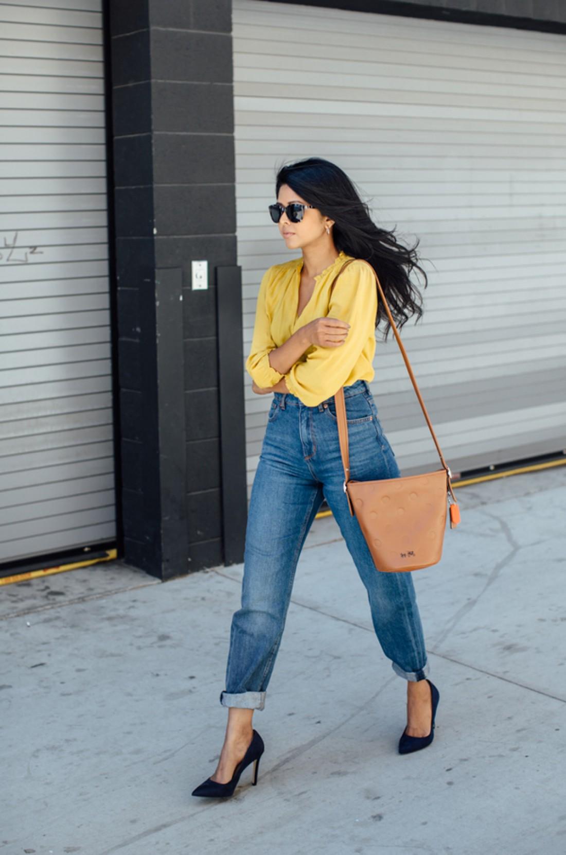 Mom jeans: образ №5