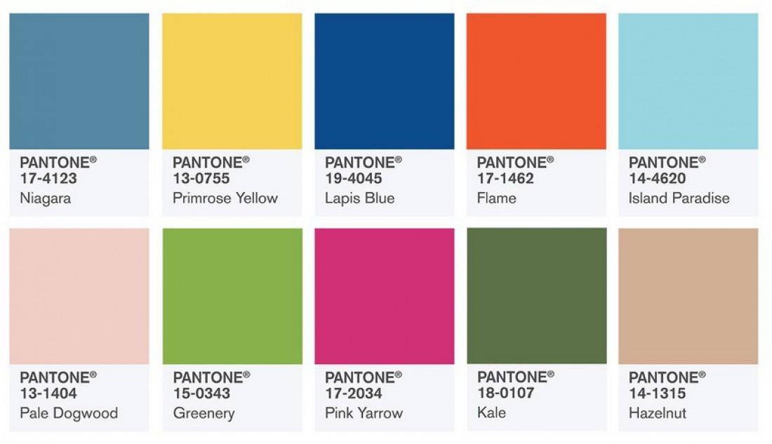 Модные цвета 2017 по мнению Pantone