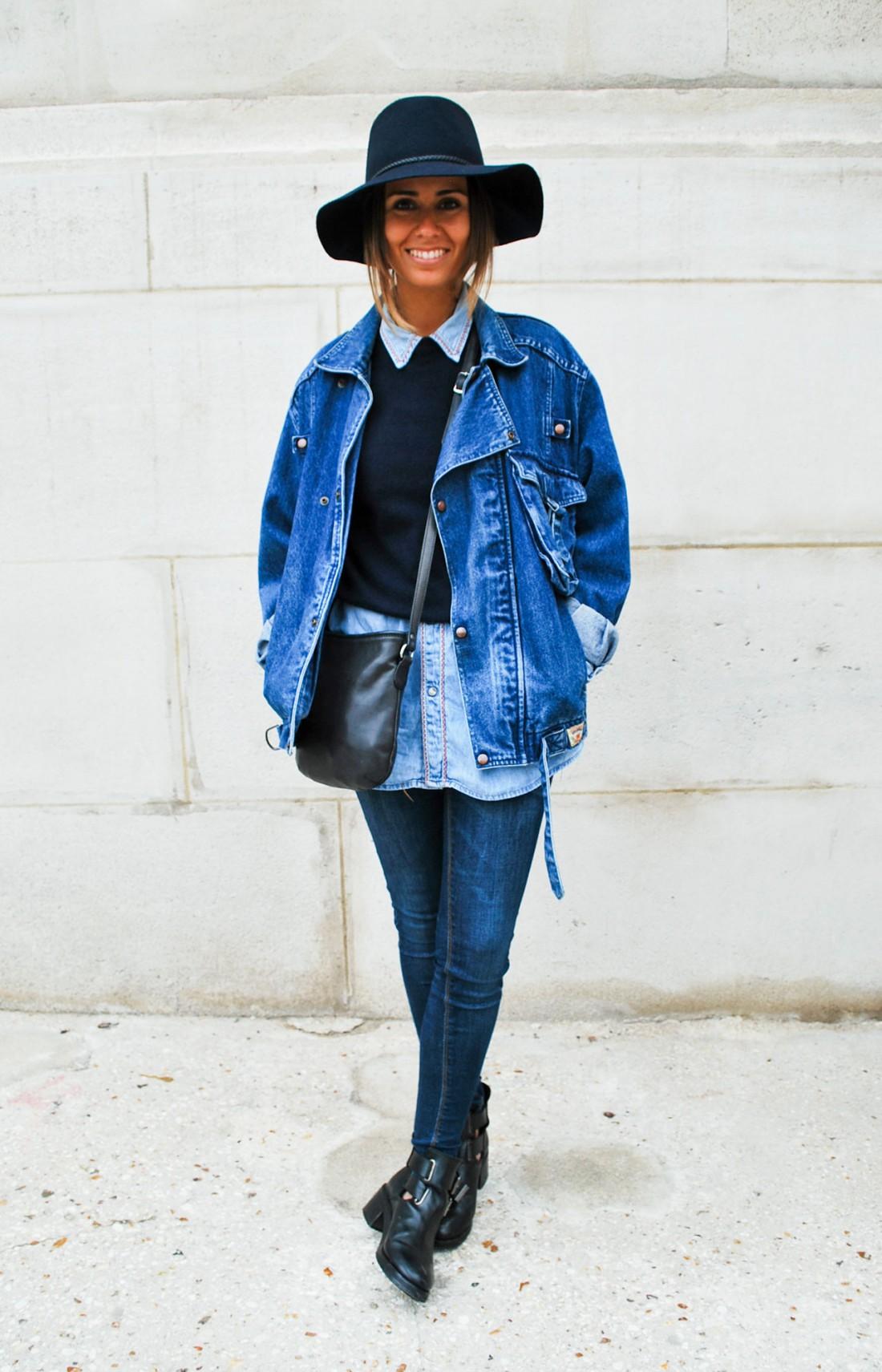 В джинсовом образе должны сочетаться разные оттенки