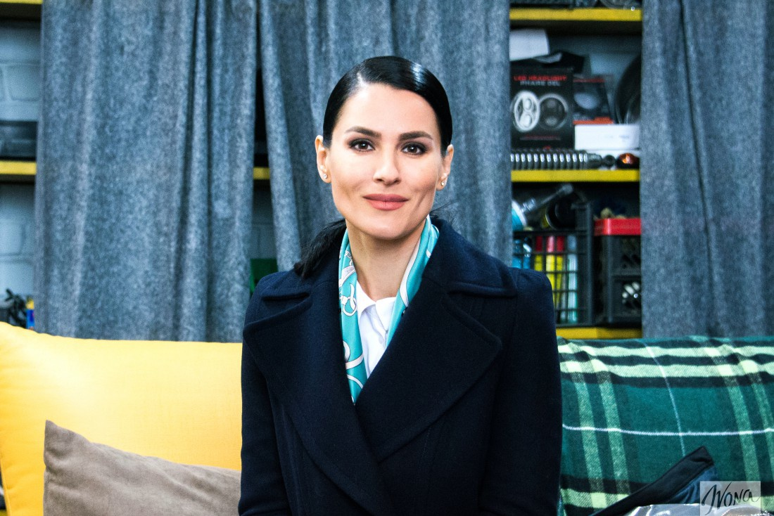 Мария Ефросинина на съемках сериала Тройная защита