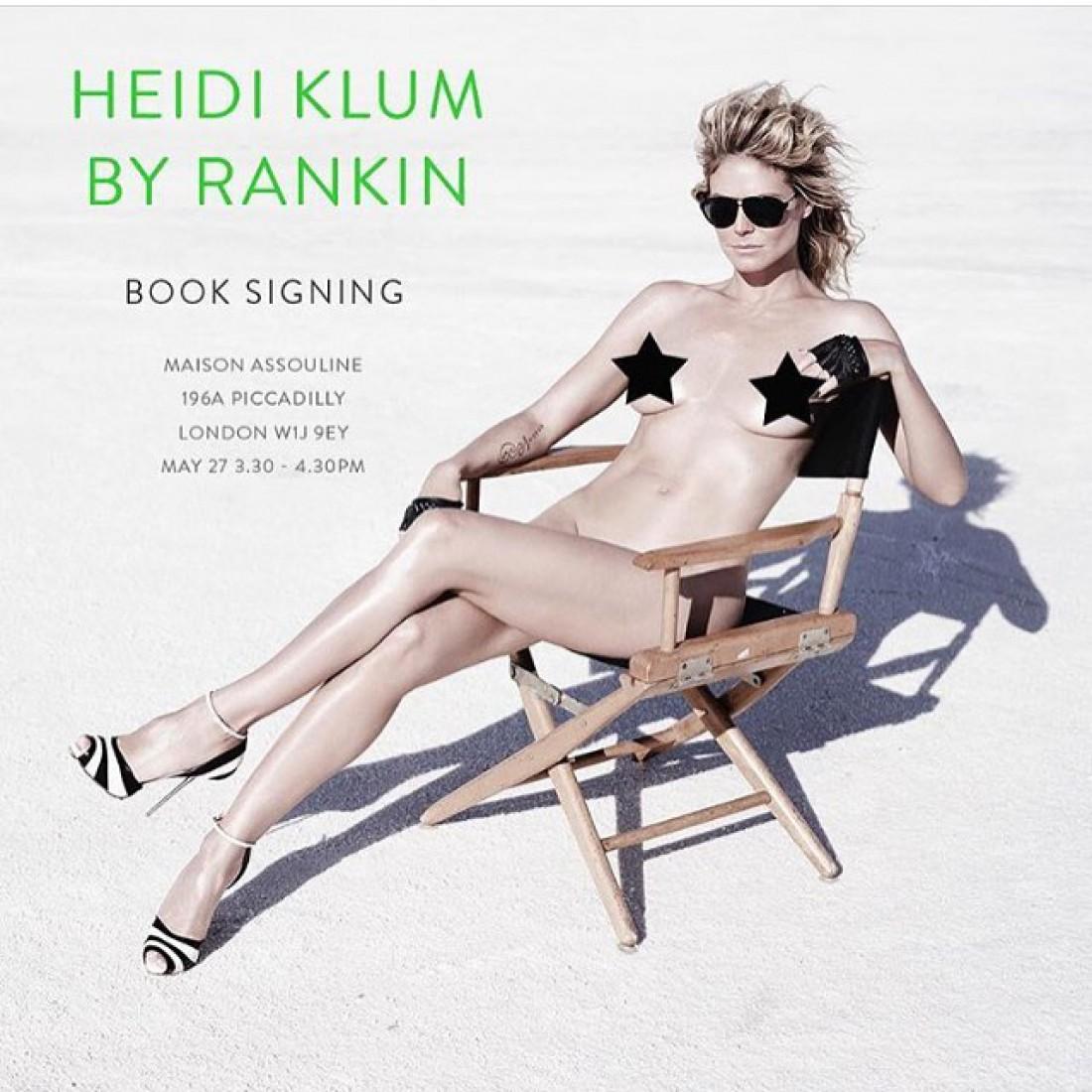 Хайди Клум полностью обнажилась в книге Heidi Klum By Rankin