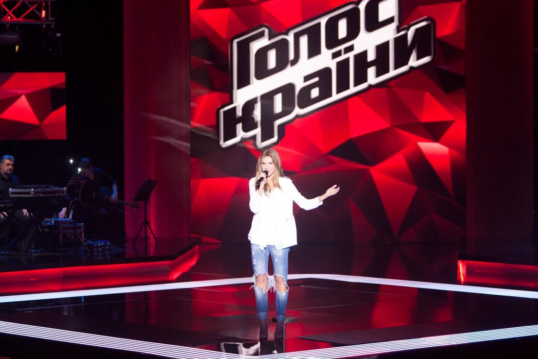 Катя на шоу Голос країни 6