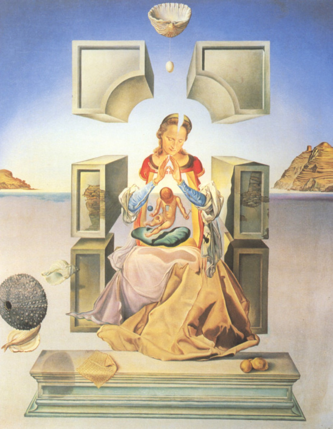 Гала в образе Девы Марии на картине Мадонна Порт-Льигата, 1949 год
