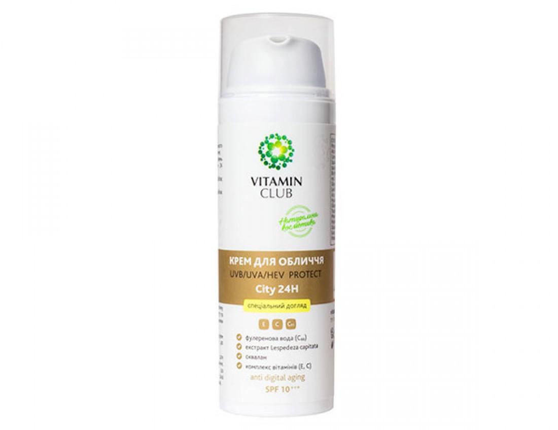 Крем для лица UVВ/UVА/HEV Protect City24H (SPF 10) от VitaminClub