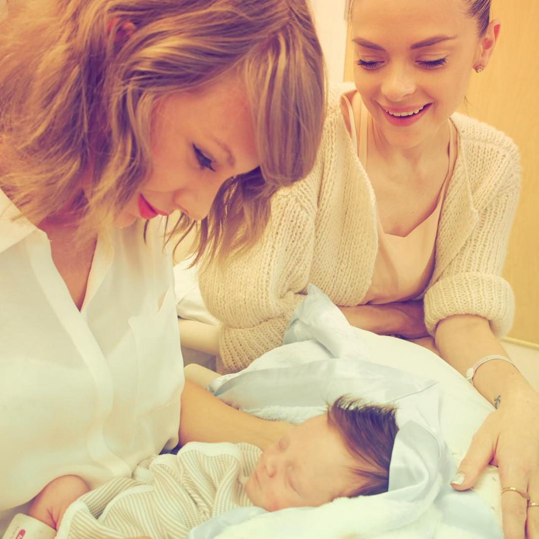 Тейлор с крестником