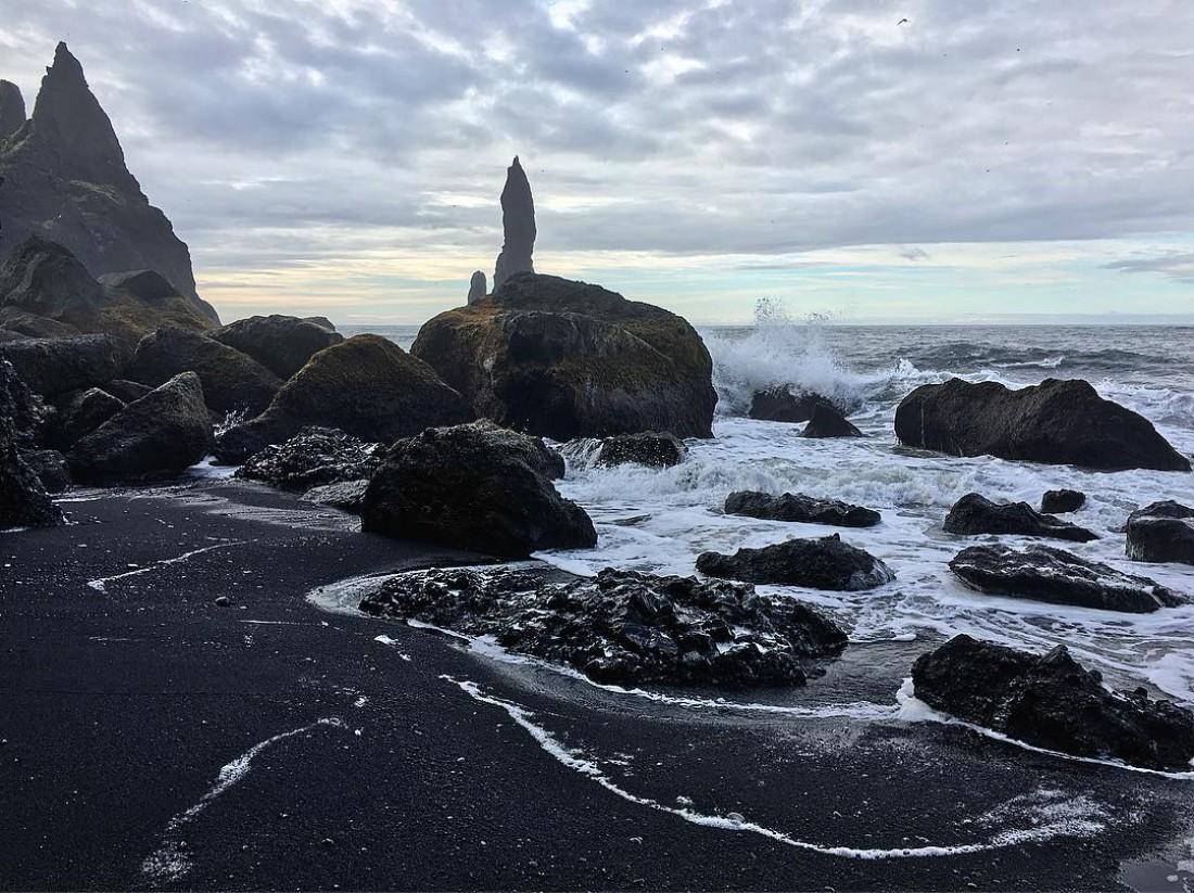 Черный исландский пляж Вик