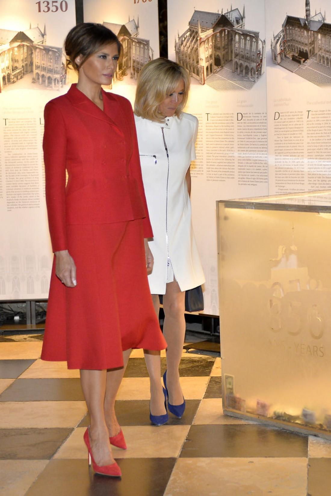 Меланья Трамп посетила Париж в наряде от Dior