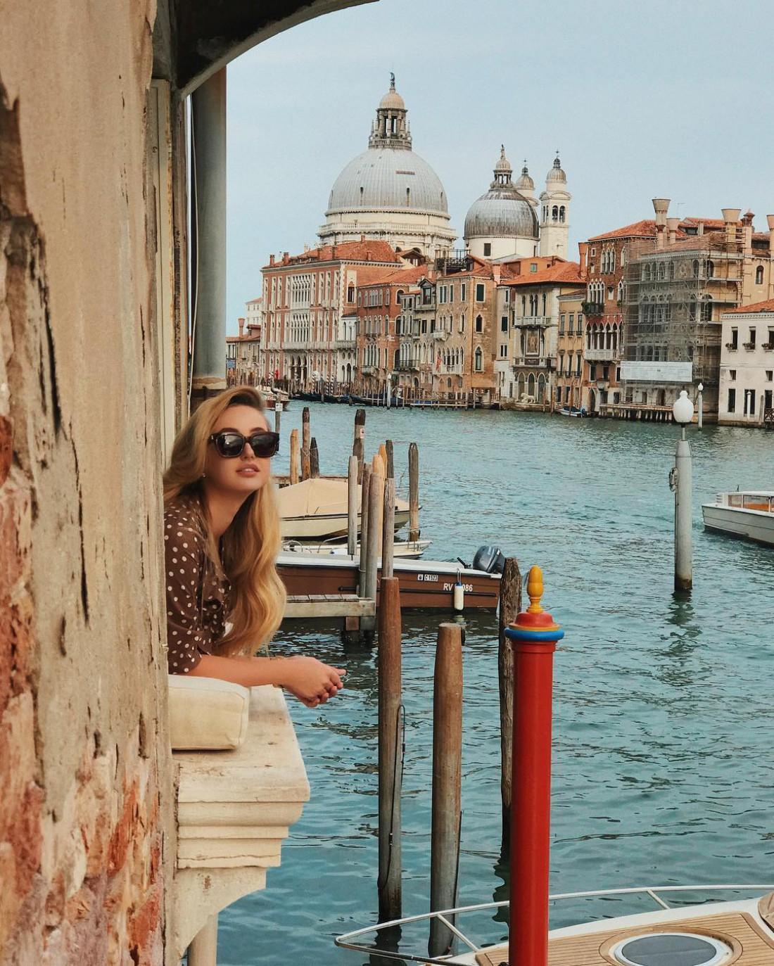 Жена Николая Тищенко Алла в Венеции