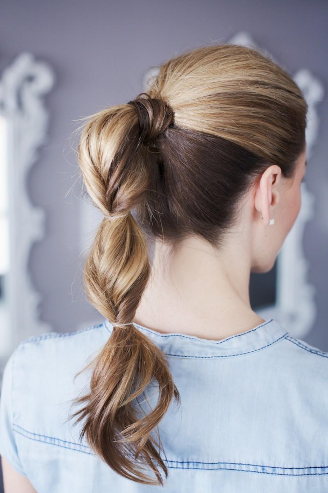 Причёски из длинных волос из хвоста