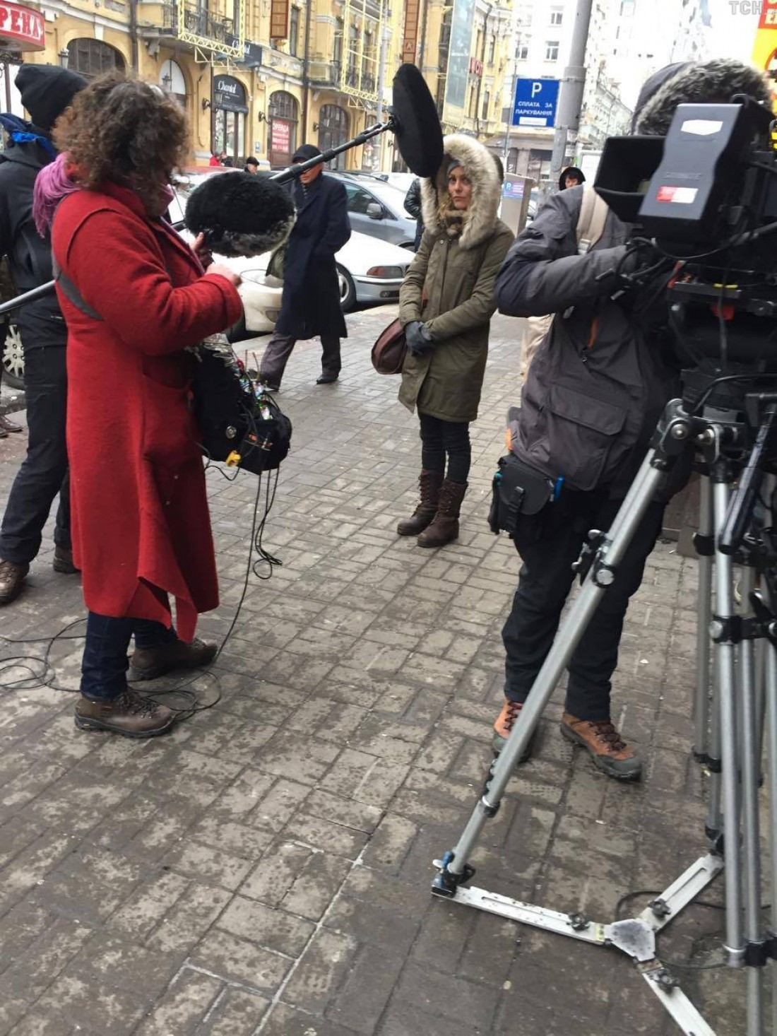Французская актриса Ванесса Паради в Украине