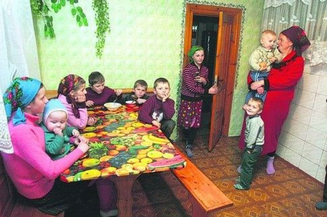 Семья Ковалевич из села Глинное