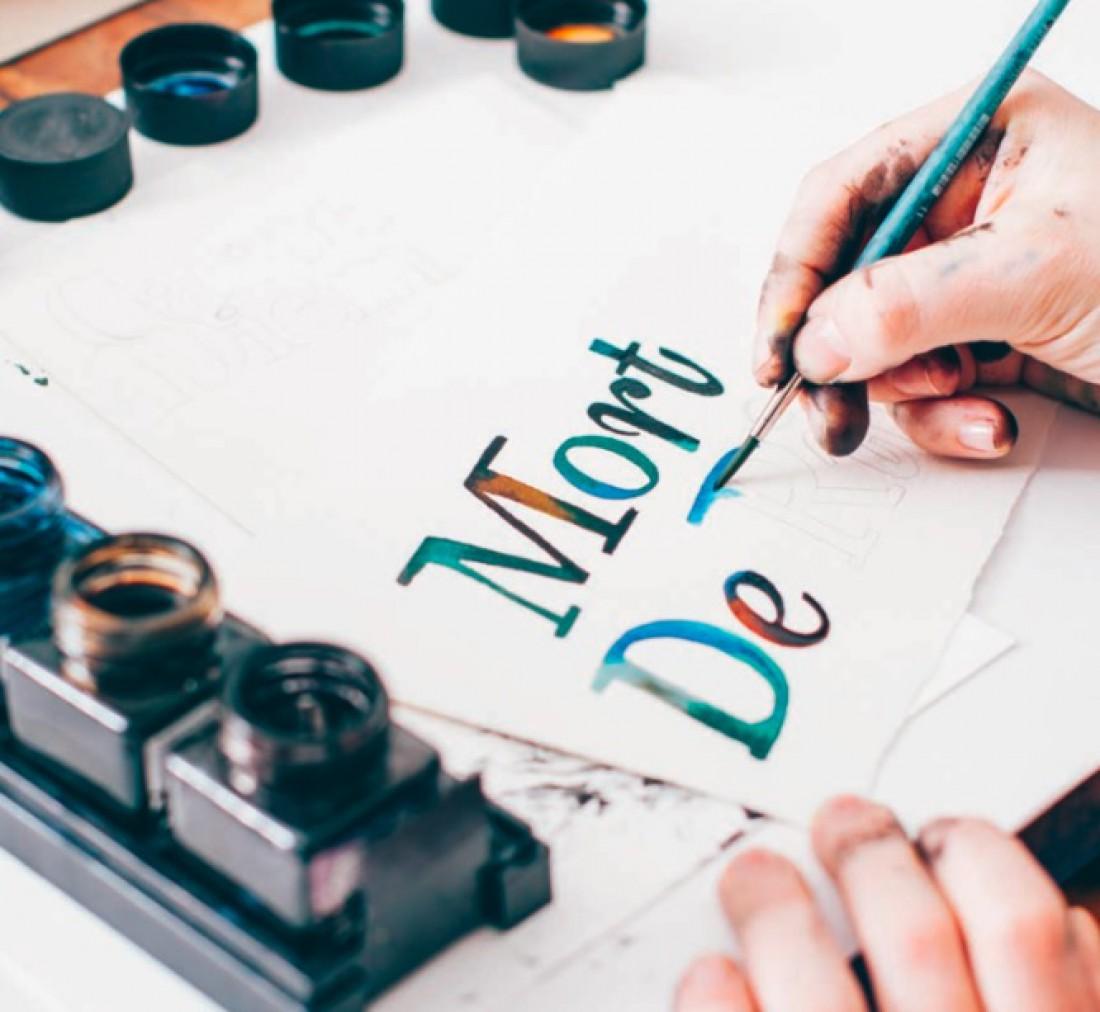 Рисуем буквы краской