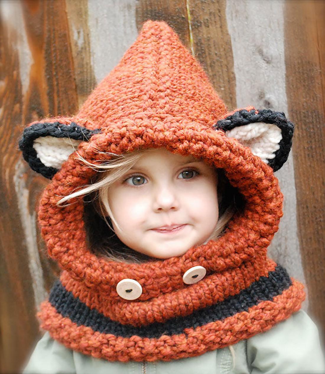 Твоя малышка будет неотразимой в шапочке-лисичке