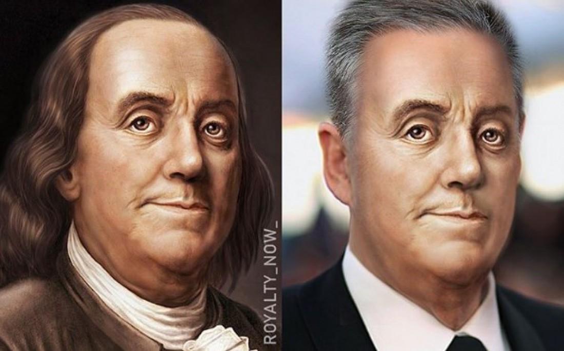 Как бы выглядел Бенджамин Франклин сегодня?
