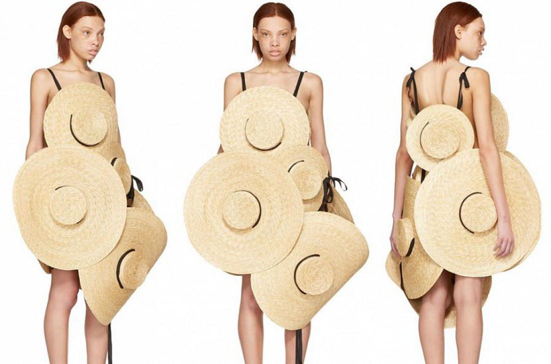 Jacquemus создал платье из соломенных шляп за $3000.