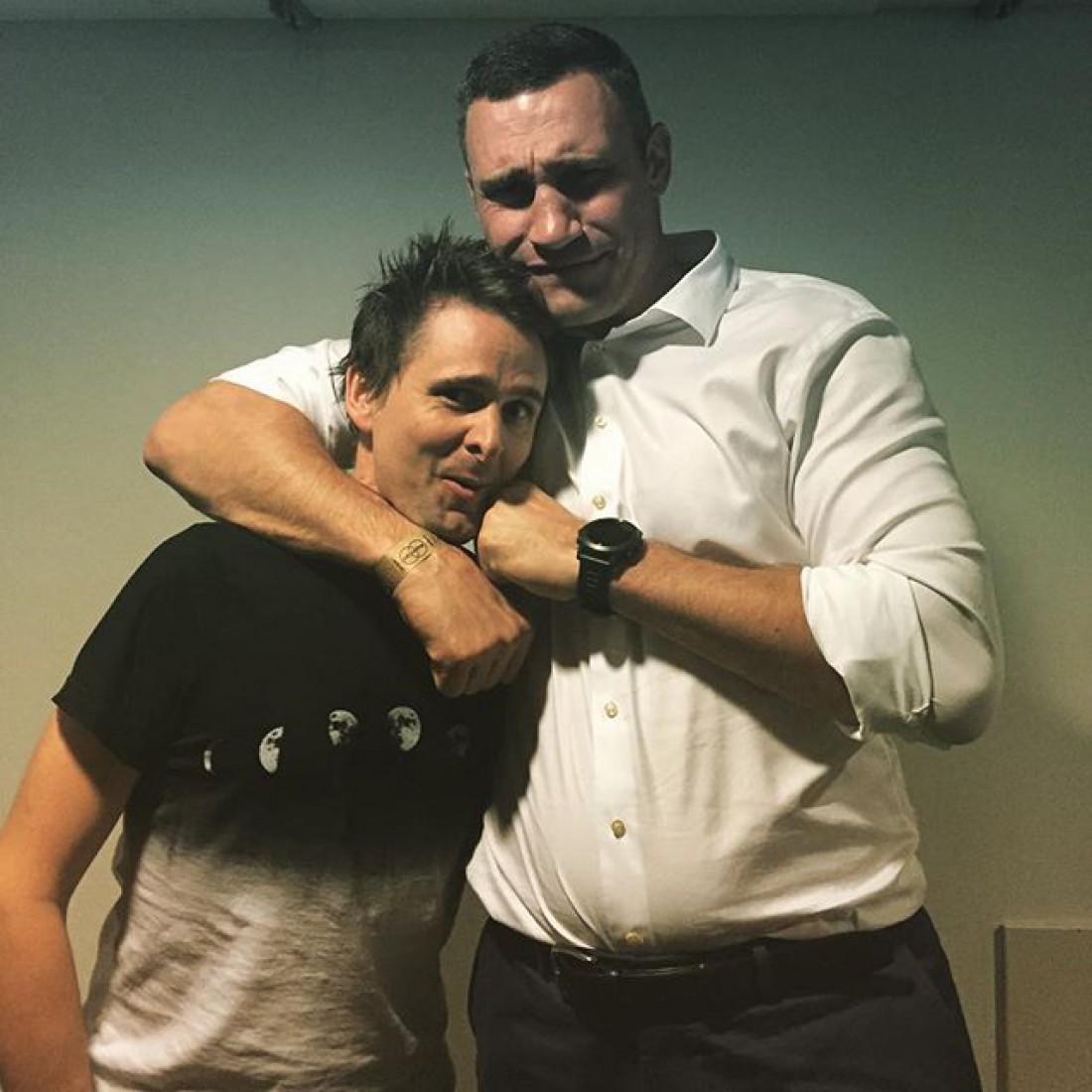 Мэтью Беллами с мэром Киева