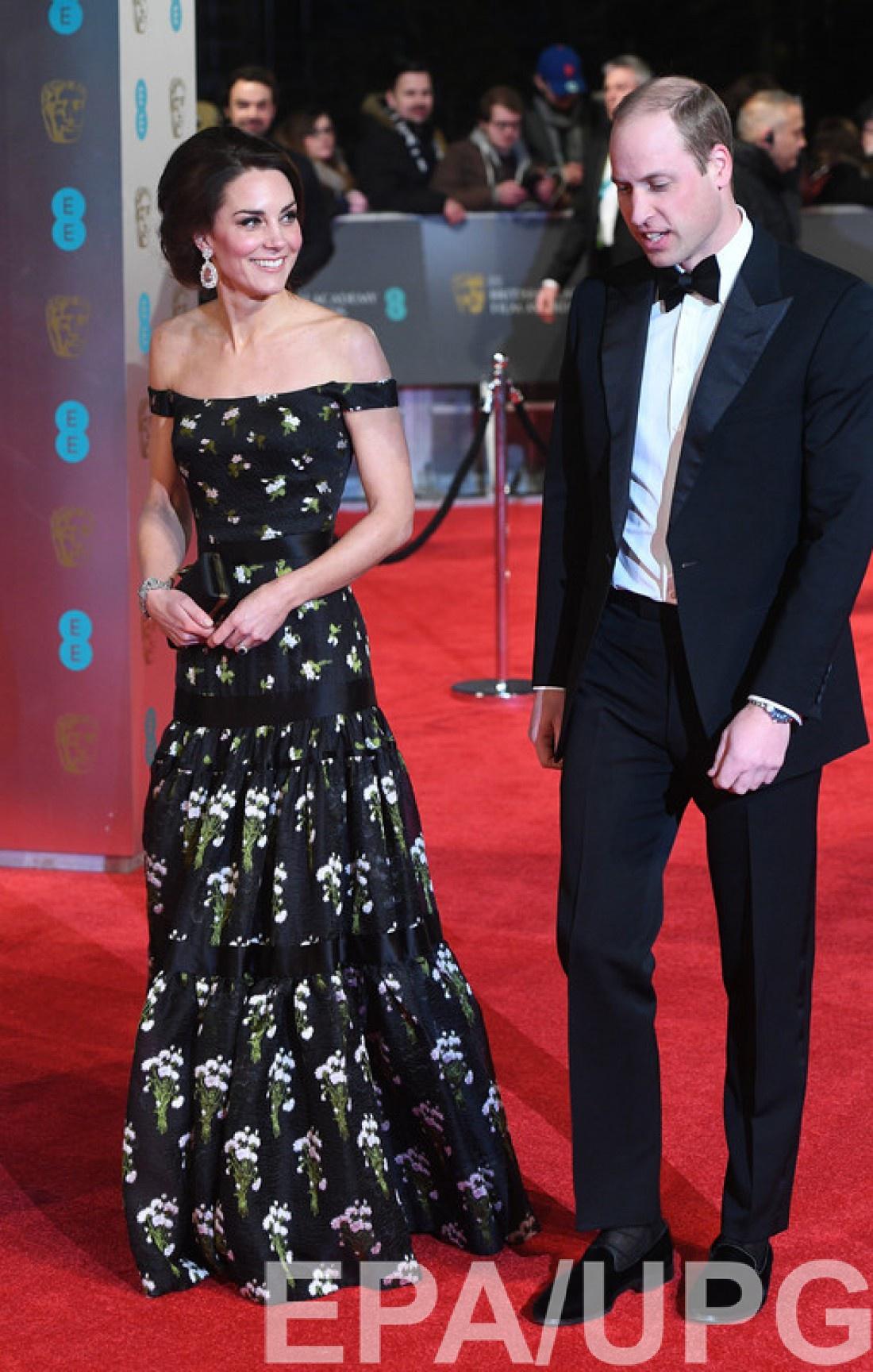BAFTA 2017: принц Уильям и Кейт Миддлтон