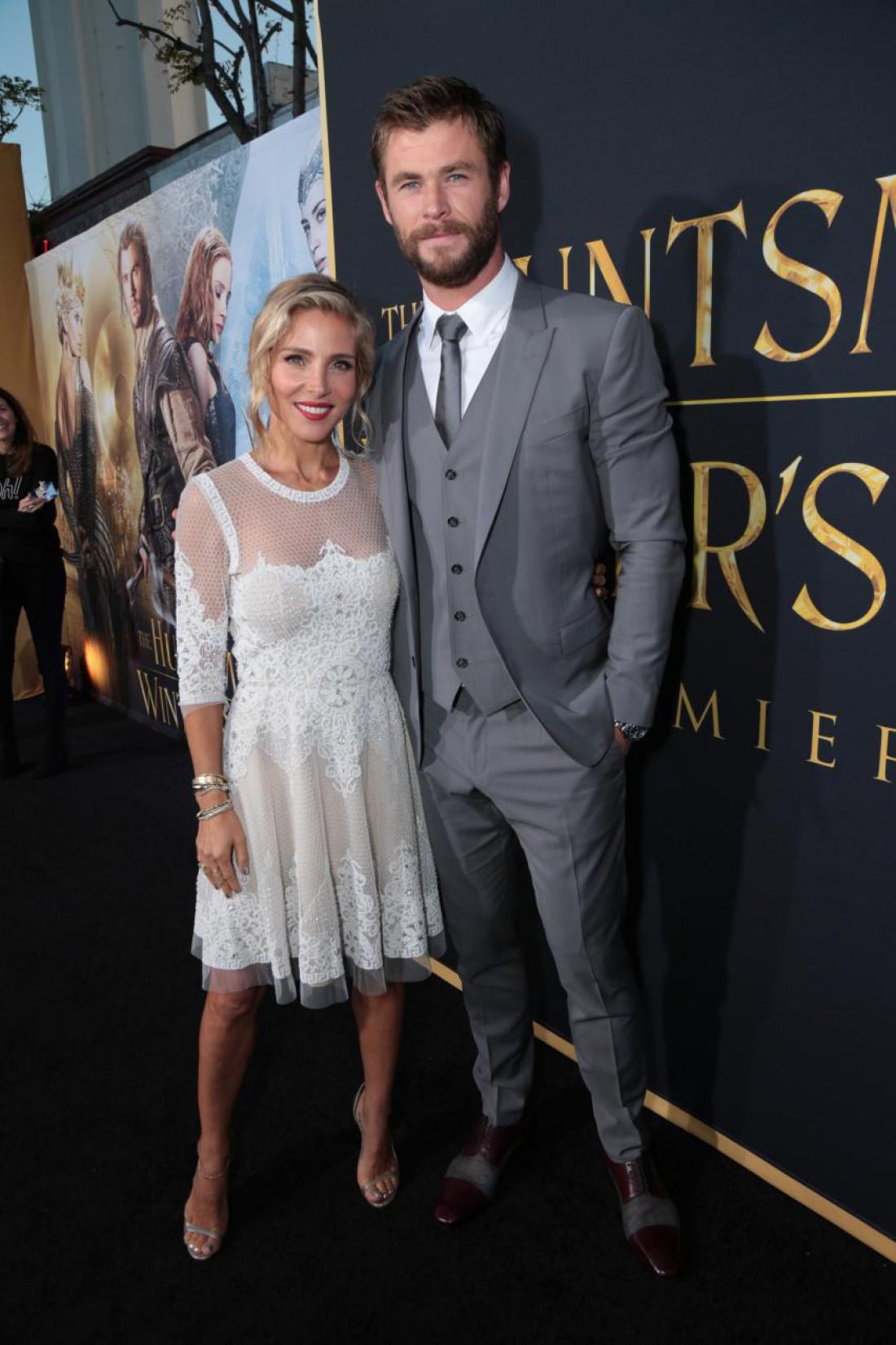 Крис с женой на премьере в Лос-Анджелесе