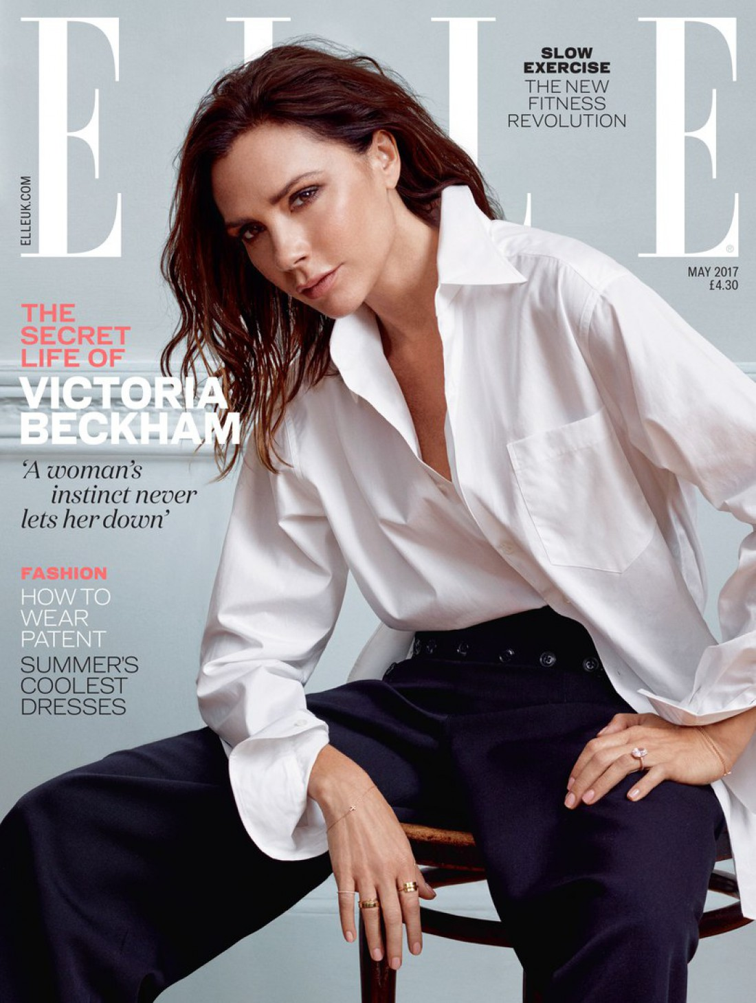 Виктория Бекхэм снялась для Elle UK
