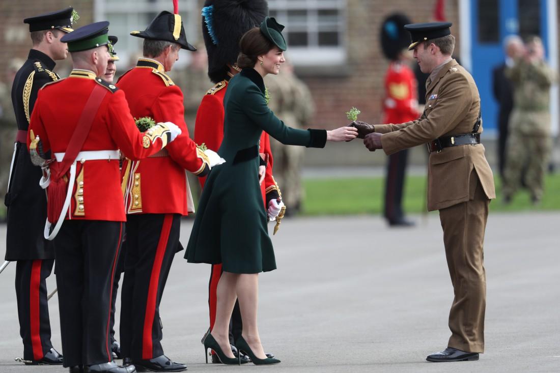 Кейт Миддлтон и принц Уильям на параде в честь Дня святого Патрика