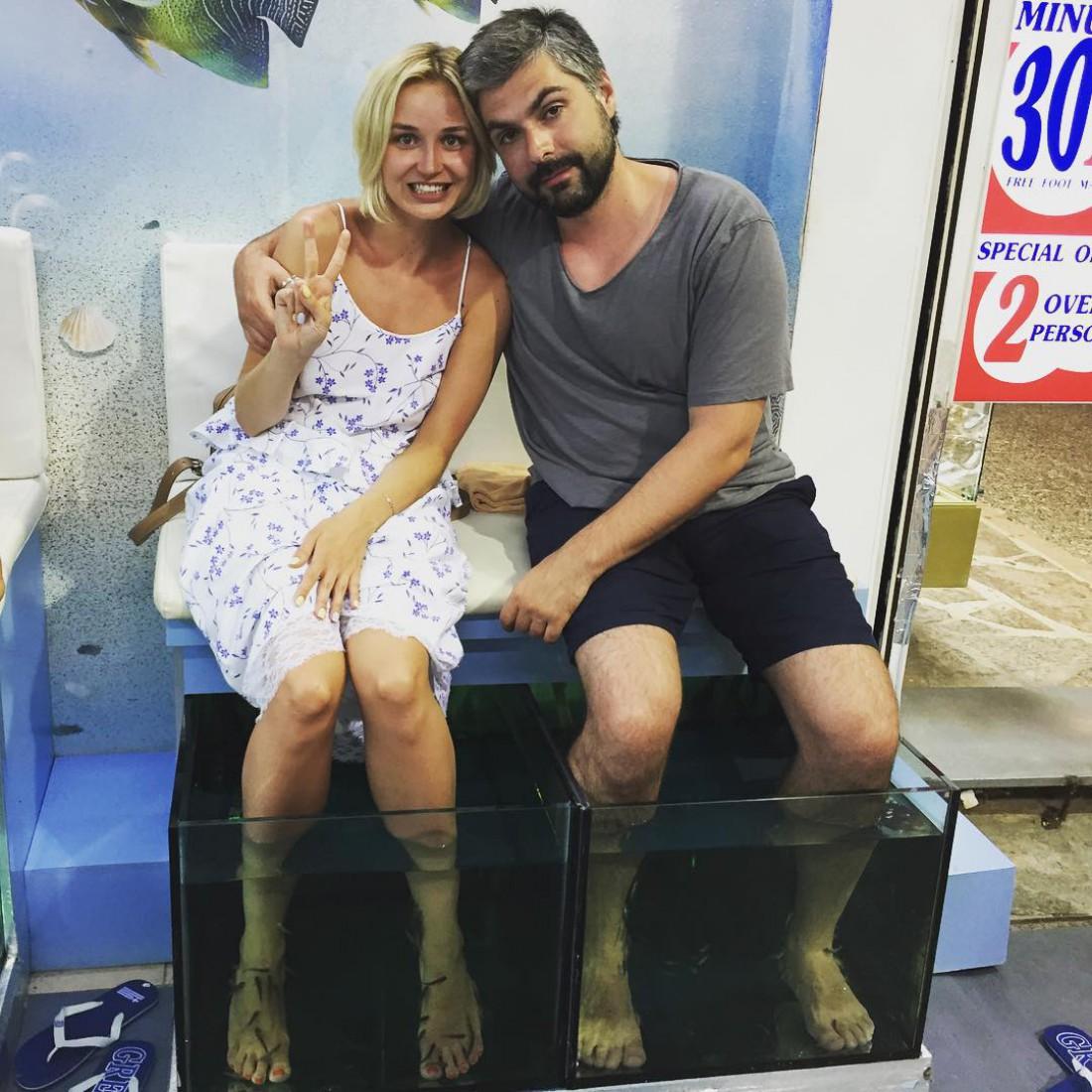 Полина Гагарина с мужем Дмитрией