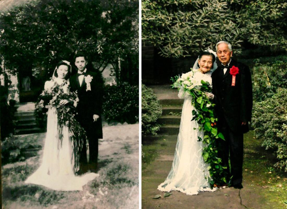 Спустя 70 лет со дня свадьбы
