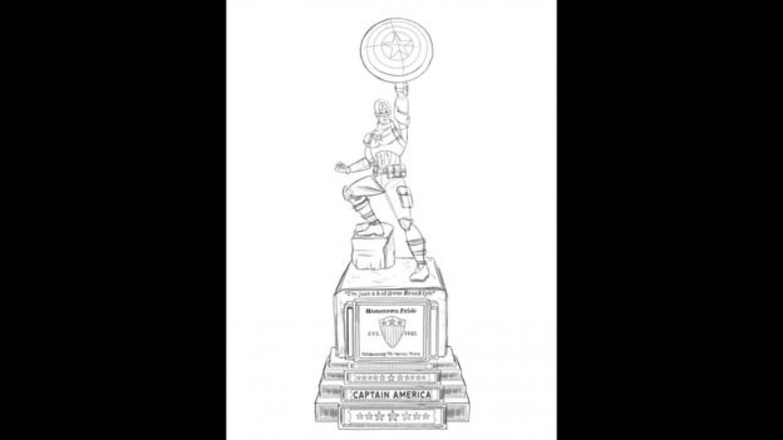 Эскиз будущей скульптуры Капитана Америка