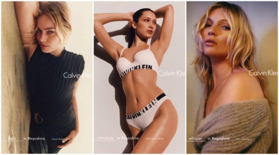 Белла Хадид, Кейт Мосс и Марго Робби в кампейне Calvin Klein