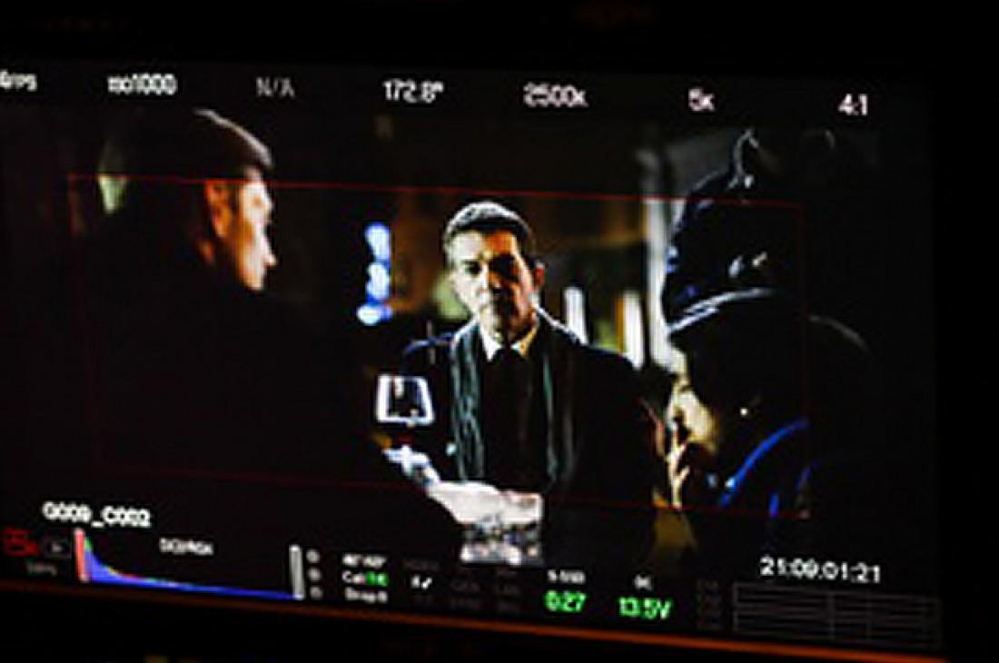 Антонио Бандерас на съемках фильма За гранью