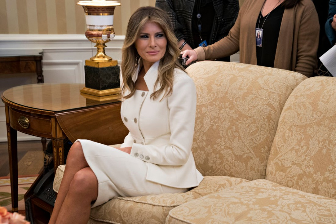 Меланья Трамп в белом доме