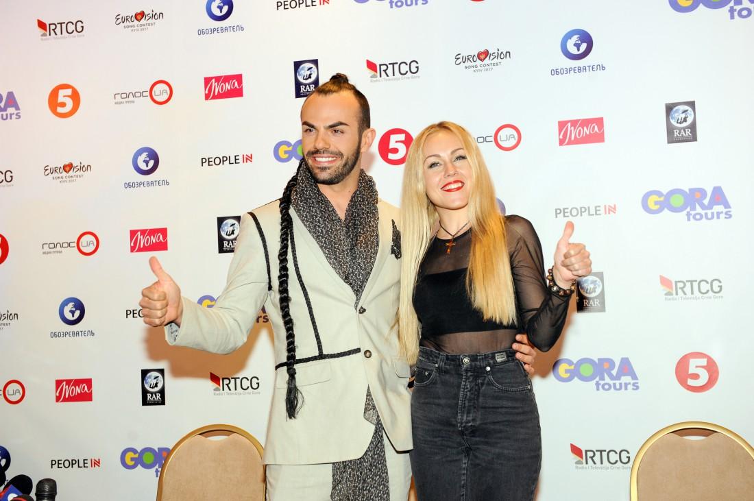 Евровидение 2017 Черногория: Славко Калезич и украинская певица ALYOSHA
