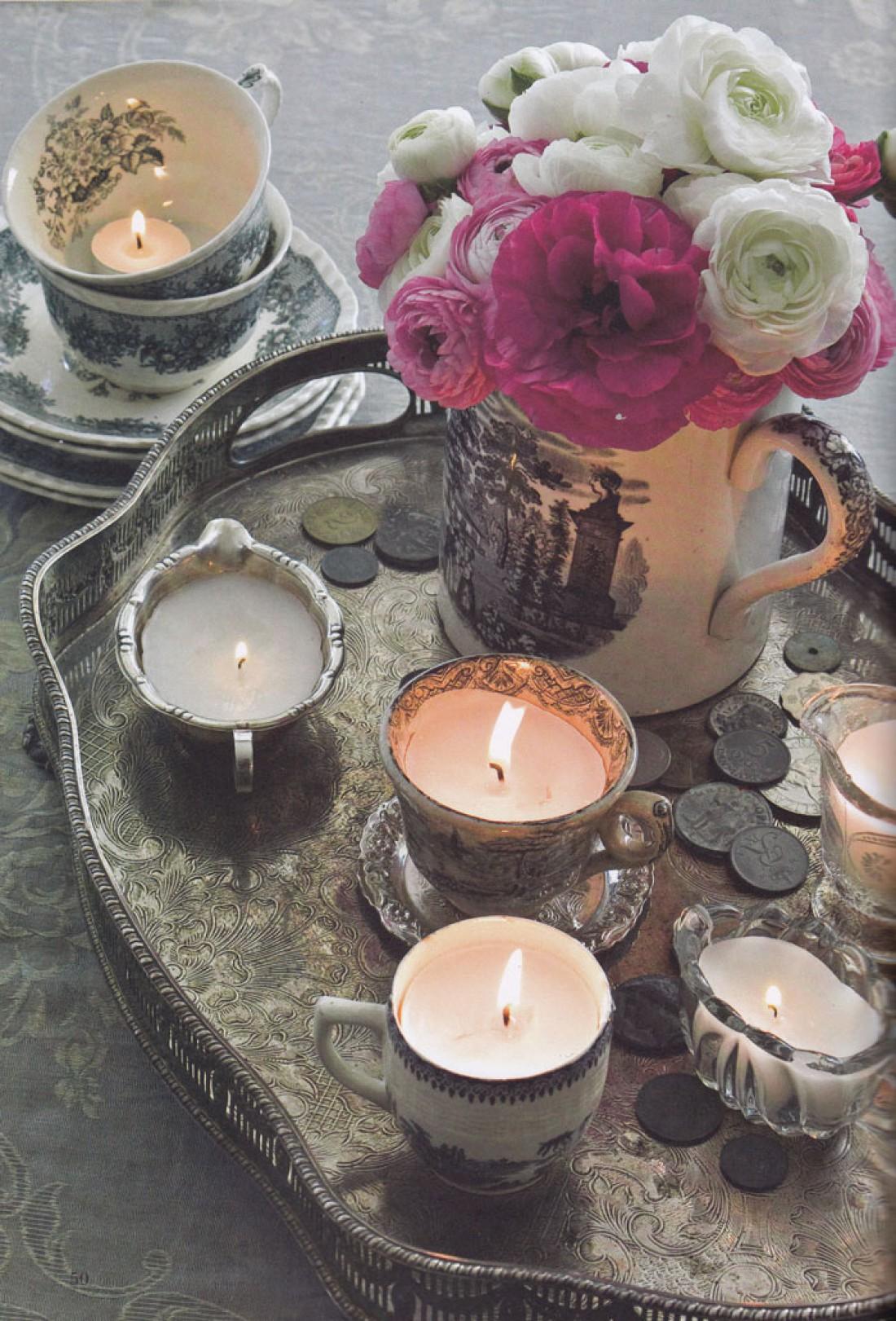 Свечи в чашках