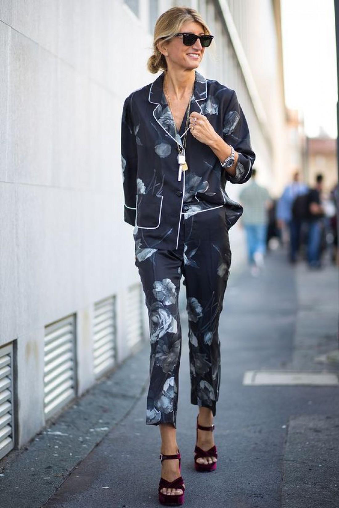 Пижамный костюм: Как носить и с чем сочетать горячий тренд 2019